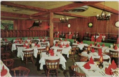 Silver Fox Restaurant Interior, 1950's